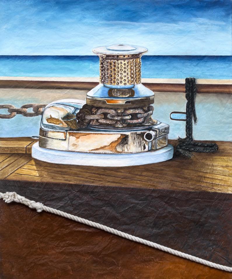Olio su vela N° 5, cm 60x50