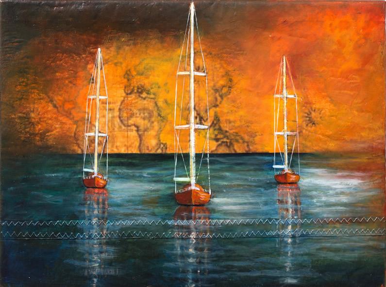Olio su vela N°59, cm 30x40
