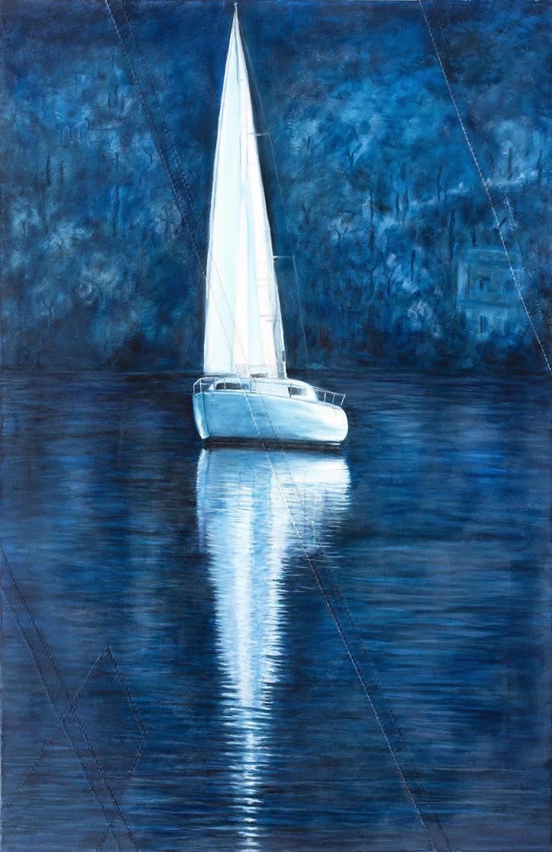 Olio su vela N°67, cm 80x52