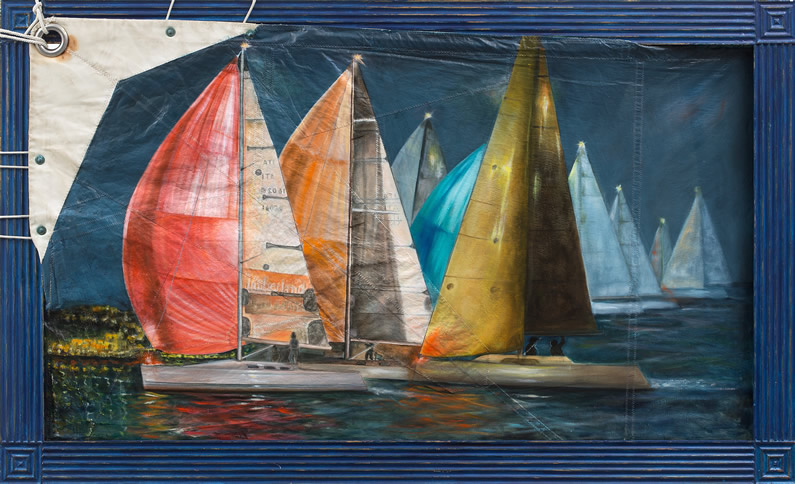 Olio su vela N°57, cm 88x144