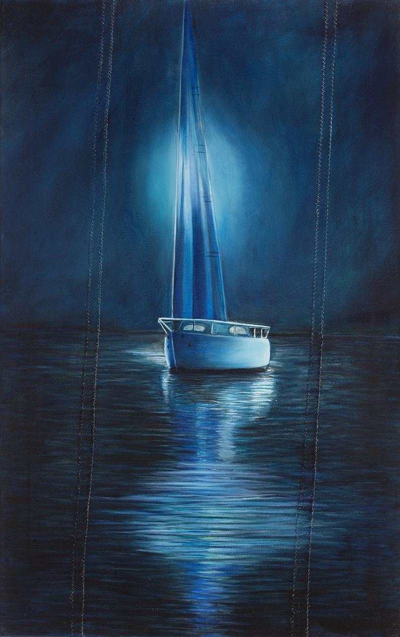 Olio su vela n°73, cm 80x50